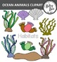 OCEAN ANIMALS  AND AQUARIUM CLIP ART