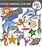 OCEAN ANIMALS  AND AQUARIUM CLIP ART
