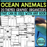 OCEAN ANIMALS Graphic Organizers for Reading  Reading Grap