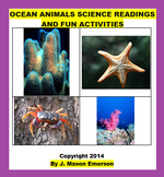 OCEAN ANIMALS SCIENCE READINGS AND FUN ACTIVITIES (COMMON CORE, 52 PP)
