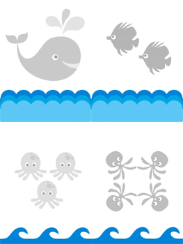 OCEAN Animal File Folder Game Numbers 1-10