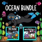 OCEAN BUNDLE   Interactive Notebook   No Prep Math Printables