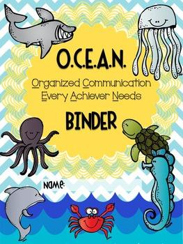 OCEAN Binder Cover EDITABLE