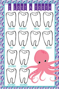 OCEAN - Classroom Decor: I lost a TOOTH - size 24 x 36
