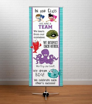 OCEAN - Classroom Decor: LARGE BANNER, In Our Class