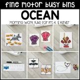 OCEAN Fine Motor Busy Bins for Summer - morning work tubs