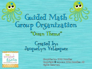 O.C.E.A.N. Guided Math Rotation Poster