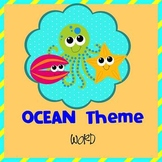 OCEAN - Newsletter Template WORD