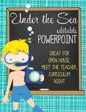 OCEAN - PowerPoint, Open House, Curriculum Night, Meet the Teacher