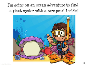 OCEAN SUBMARINE BOOK Pre-K Speech Therapy Early Reader