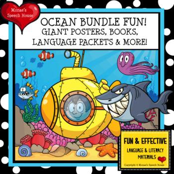 OCEAN SHARK OCTOPUS BUNDLE  Speech Therapy Early Reader