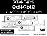 OCEAN THEME - Classroom Money - EDITABLE