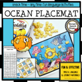 OCEAN Spatial Concepts TIC TAC TOE snack mats Speech Thera