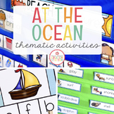 OCEAN THEME ACTIVITIES FOR PRESCHOOL, PRE-K AND KINDERGARTEN