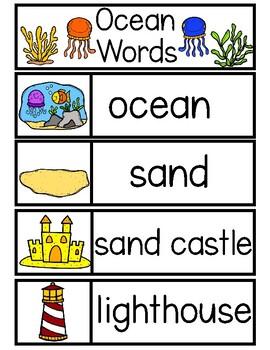 OCEAN Word Cards {Capital & Lowercase