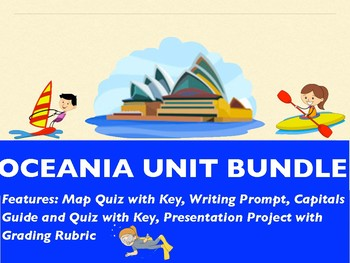 OCEANIA COMPLETE UNIT GEOGRAPHY BUNDLE