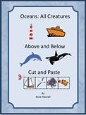 Ocean Animals Kindergarten Special Education Autism Cut and Paste Fine Motor