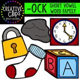 OCK Short O Word Family {Creative Clips Digital Clipart}