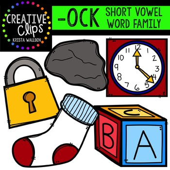 OCK Short O Word Family {Creative Clips Digital Clipart}