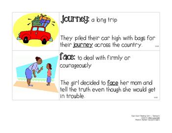 OCR Displayable Vocabulary Cards - U1, L6: Ellie's Long Walk