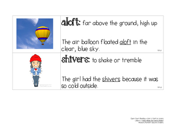 OCR Displayable Vocabulary Cards - U2, L3: What Makes the Earth Shake?