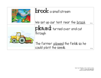 OCR Displayable Vocabulary Cards - U2, L5: In My Own Backyard