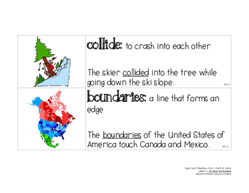 OCR Displayable Vocabulary Cards - U2, L4: All About Earthquakes!