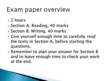 OCR English Language Paper 1 practice