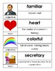 Kindergarten Open Court Unit 1 Vocabulary Cards