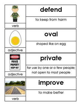 OCR Unit 10 Vocabulary Cards