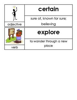 Kindergarten Open Court Unit 2 Vocabulary Cards