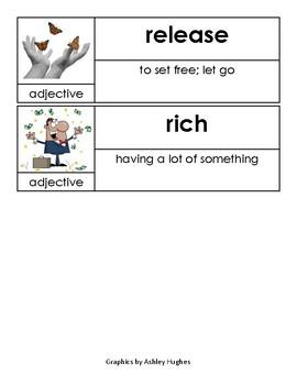 Kindergarten Open Court Unit 7 Vocabulary Cards