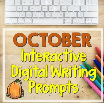 OCTOBER Bell-Ringer Writing Prompts (Digital Version)