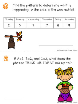 OCTOBER Brain Teasers & Logic Puzzles FREEBIE