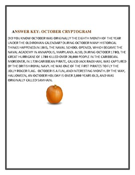 OCTOBER CRYPTOGRAM