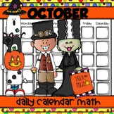 OCTOBER Daily Calendar Math for Kinders