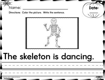 OCTOBER - Daily Writing - COPY Sentences