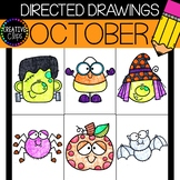 OCTOBER Directed Drawings {Made by Creative Clips Clipart}