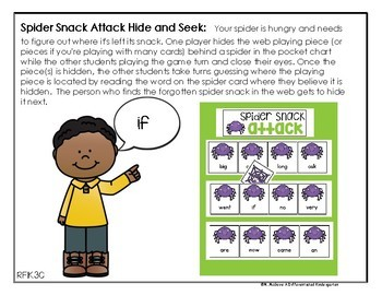 OCTOBER EDITABLE - Hide and Seek 12 Different Sight Word Sets