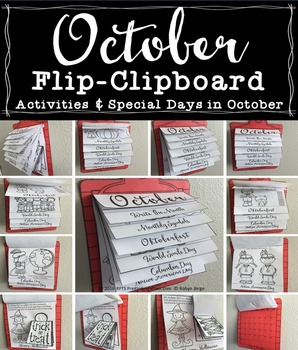 OCTOBER FLIP-CLIPBOARD Hands-On Interactive Fun
