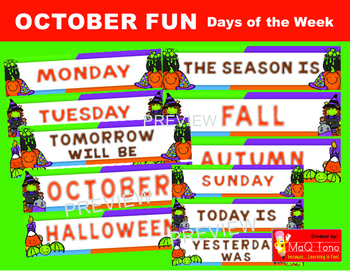 OCTOBER FUN DAYS OF THE WEEK