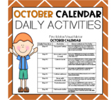 OCTOBER Fine Motor/Visual Motor (Daily Activities)