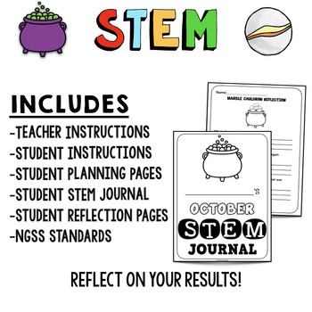 OCTOBER HALLOWEEN STEM Activity: Marble Cauldron - NGSS Aligned