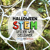 Spider Web October Halloween STEAM Activity with TpT Digital Distance Learning