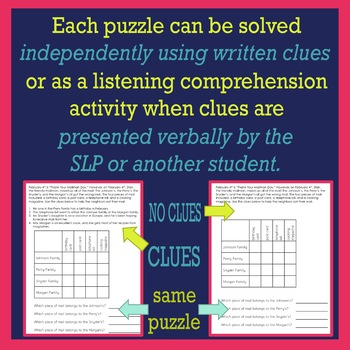OCTOBER Logic Puzzles for Listening Comprehension for SLPs