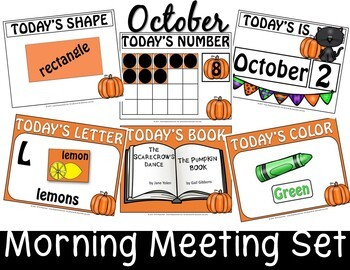 OCTOBER MORNING MEETING CENTER + EDITABLE TEACHER RESOURCES IN POWERPOINT