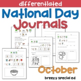OCTOBER National Days Differentiated Journals for special