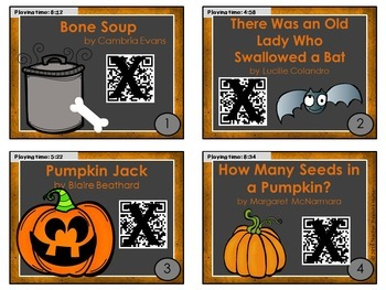 OCTOBER QR Code stories - 10 stories for the month of October~Great for centers!
