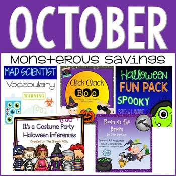 OCTOBER: Speech and Language Therapy Bundle