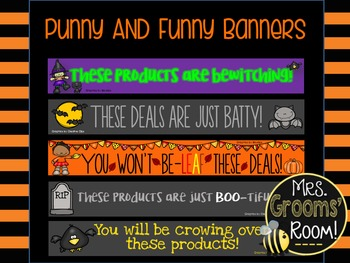 OCTOBER TPT BANNERS FOR TPT SELLERS
